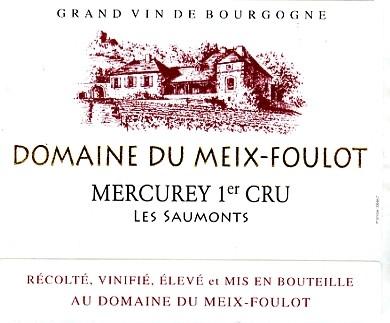 Mercurey Les Saumonts Mercurey 1er Cru